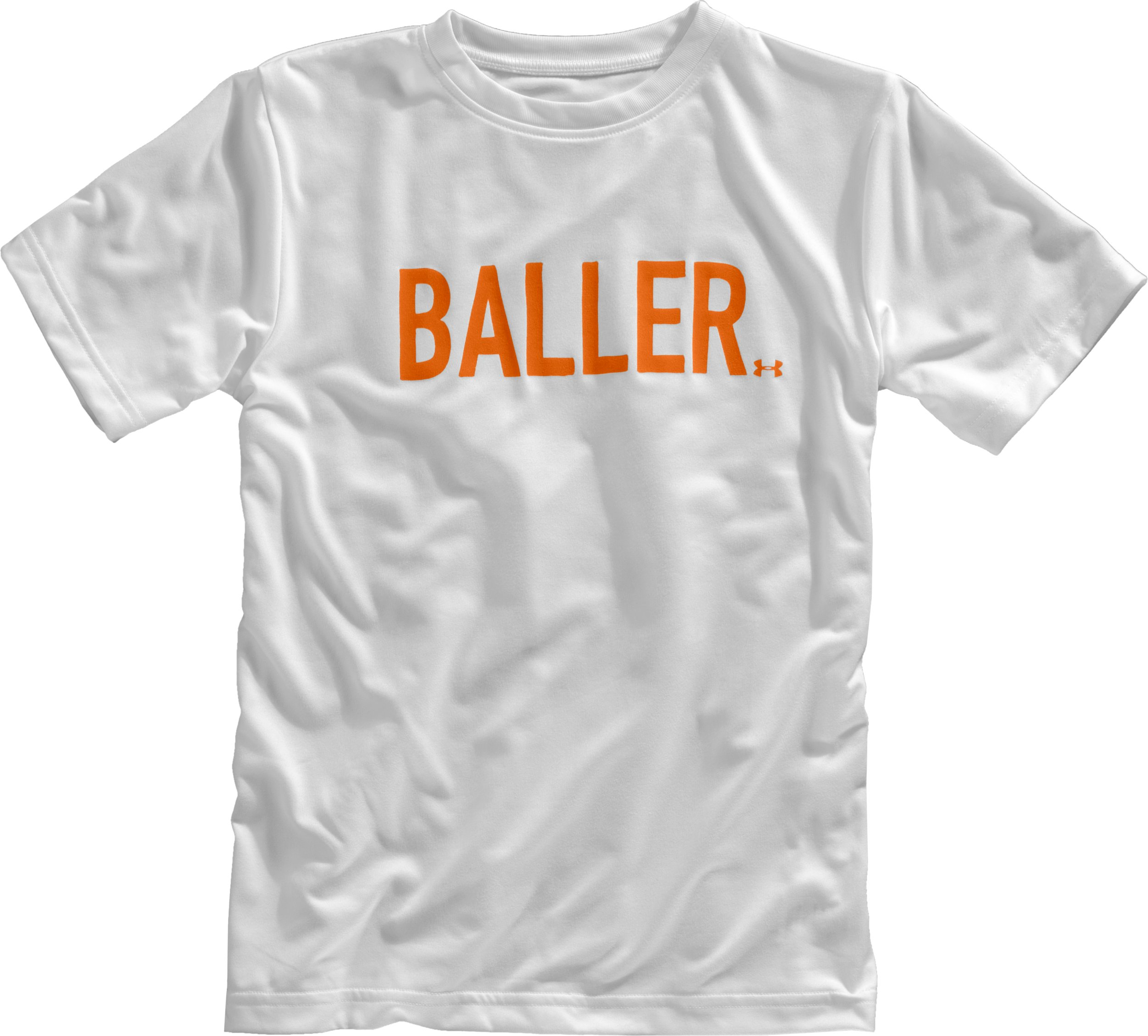 Boys' UA Baller Graphic T-Shirt, White, Laydown