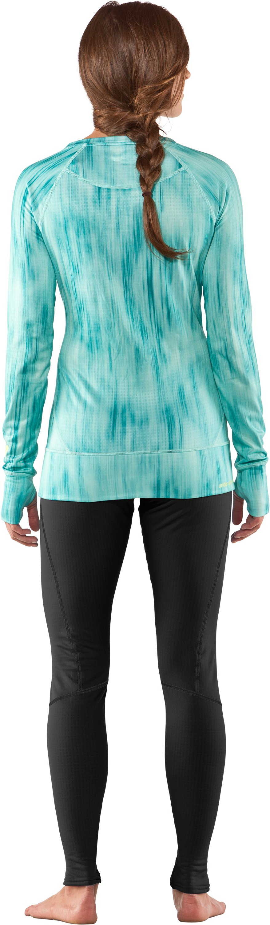 Women's UA Base™ 2.0 Avalanche Crew, Mermaid, Back