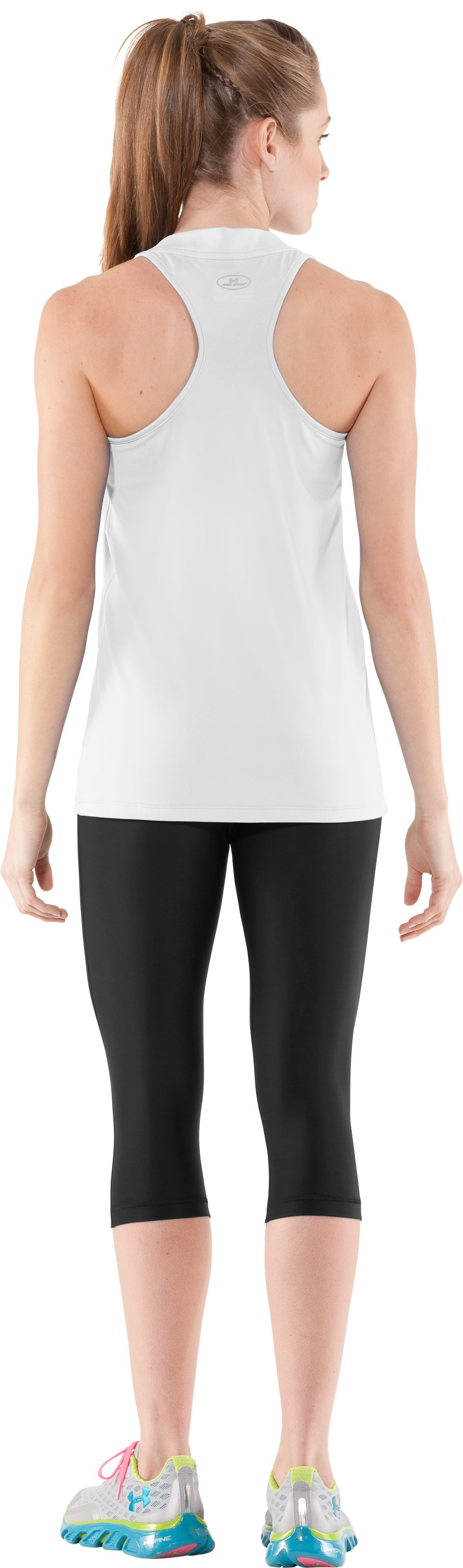 Women's UA Tech™ Sleeveless Tank, White, Back