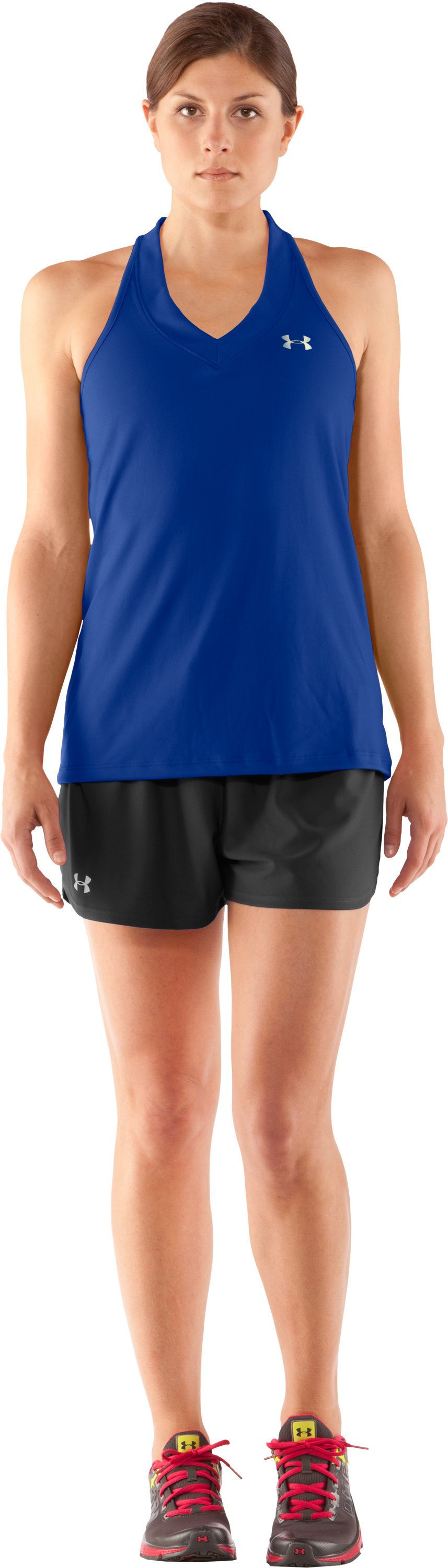 Women's UA Tech™ Sleeveless Tank, Wish, Front