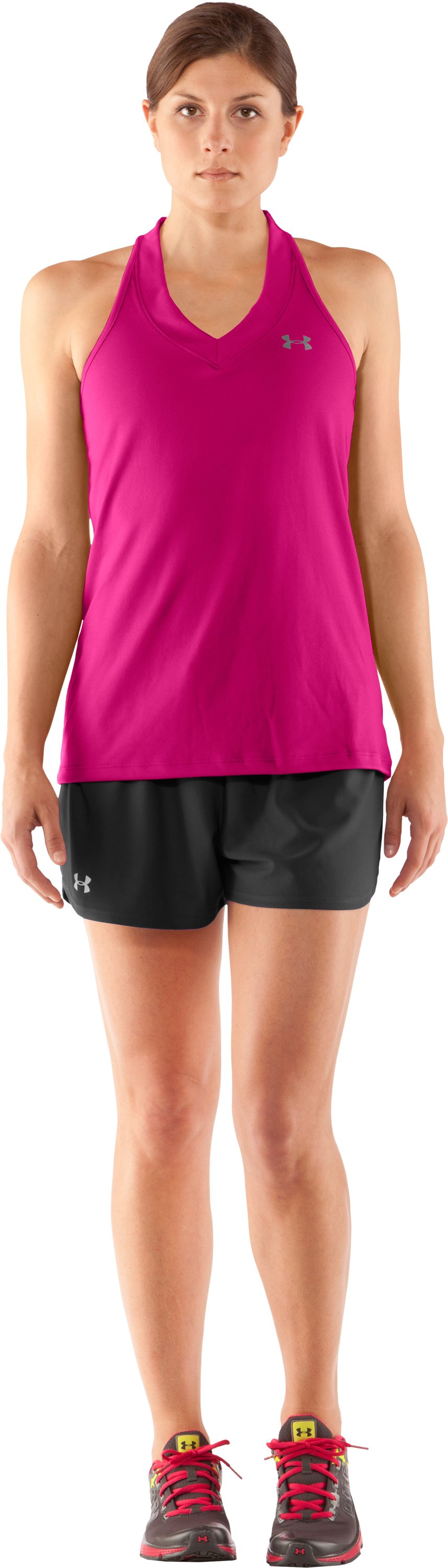 Women's UA Tech™ Sleeveless Tank, Rush, Front