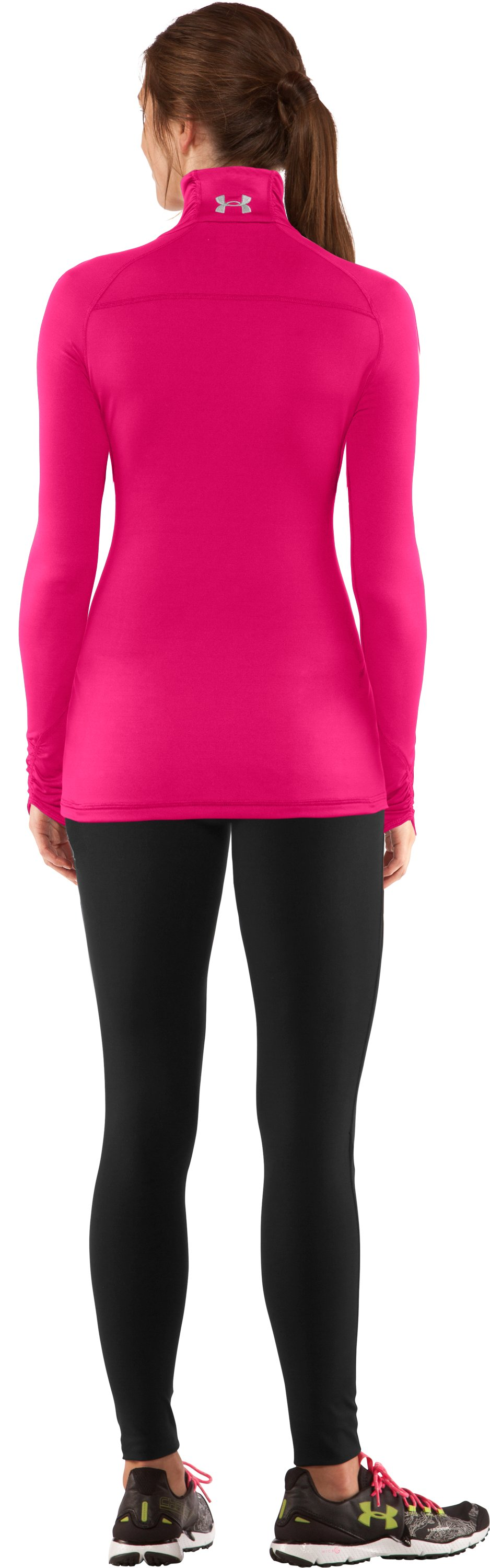 Women's Fitted ColdGear® ¼ Zip, Cerise, Back