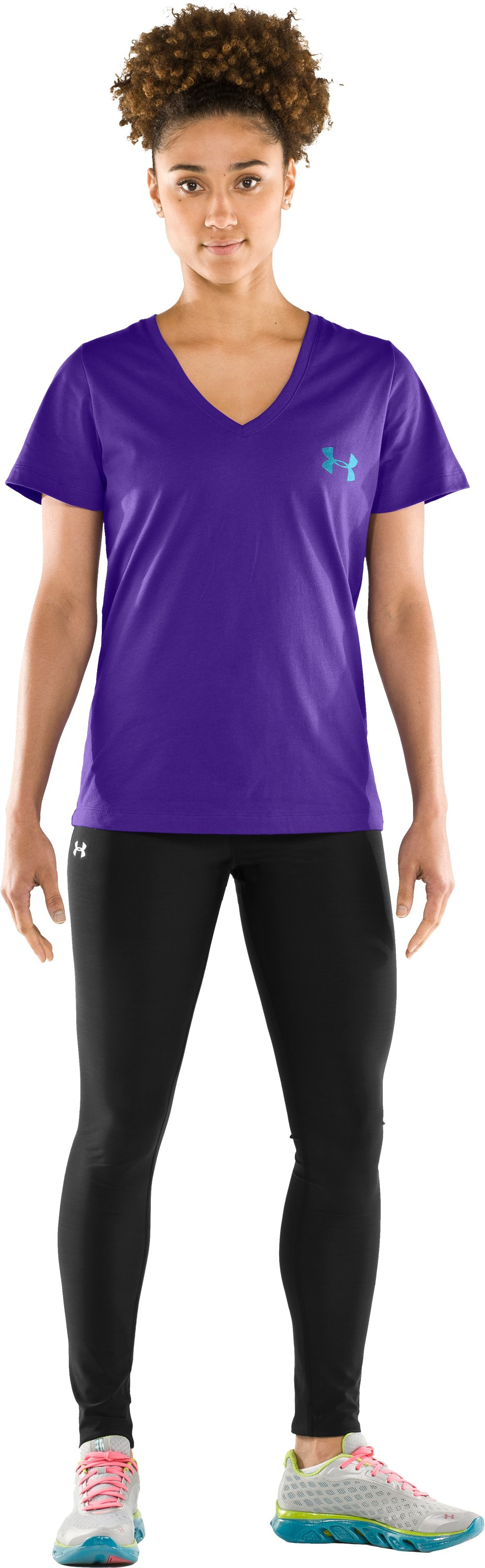 Women's Under Armour® Prismatic V-Neck, Pluto, Front