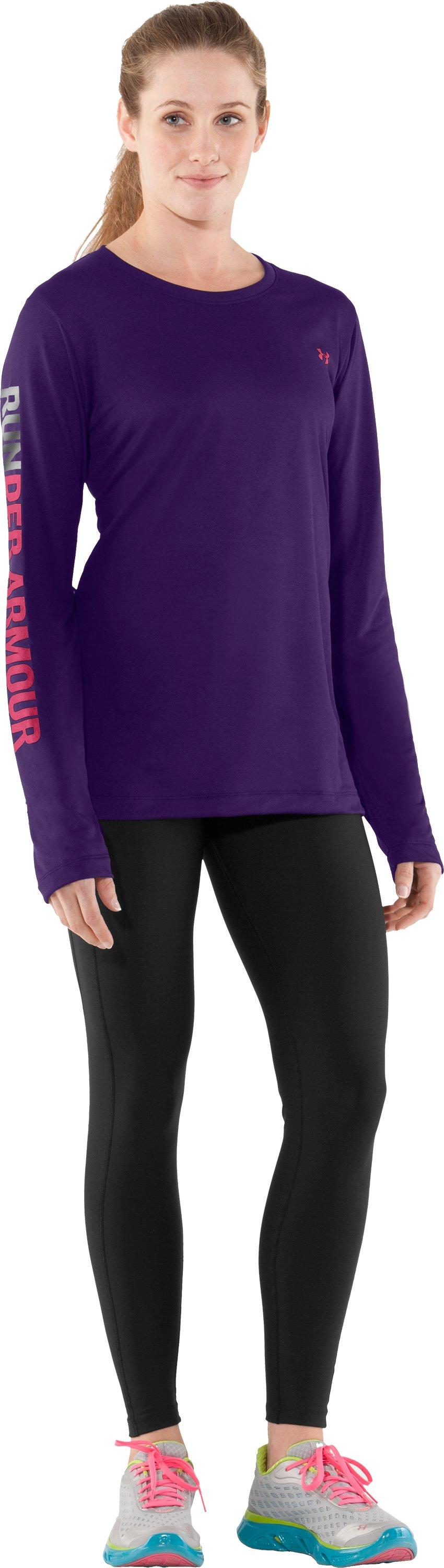 Women's UA Run Long Sleeve, Zone, Front