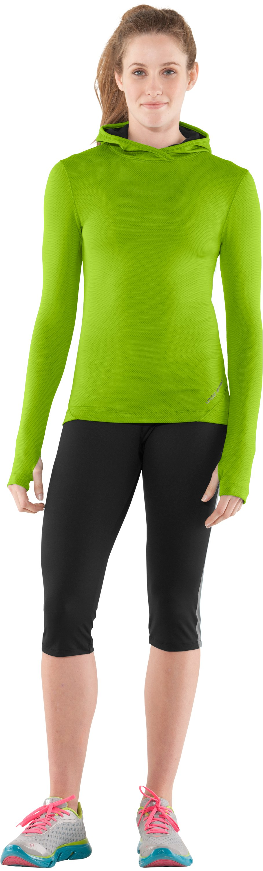 Women's ColdGear® Thermo Hoodie, Fusion, Front