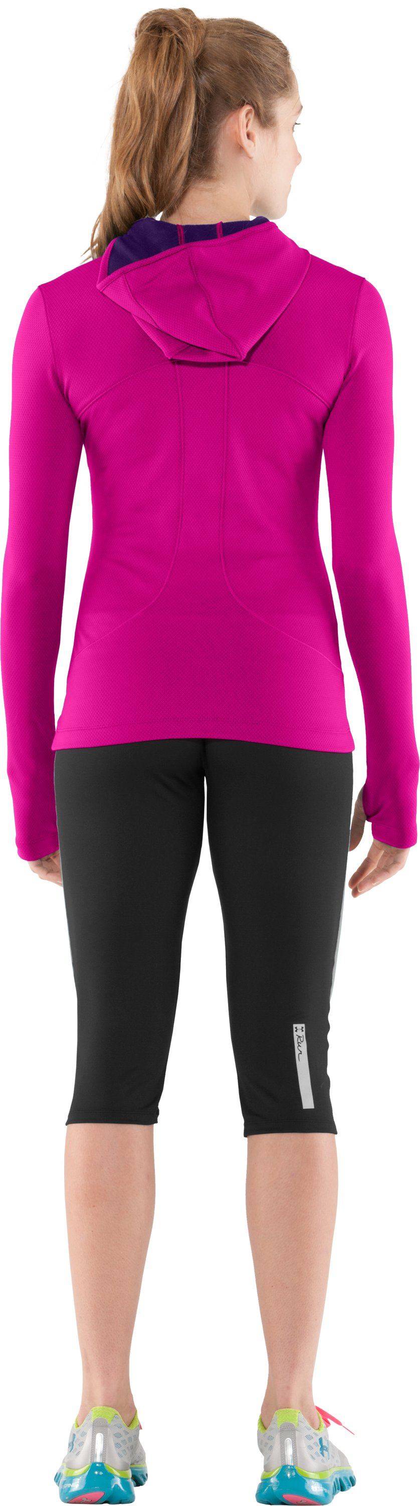 Women's ColdGear® Thermo Hoodie, Tropic Pink, Back