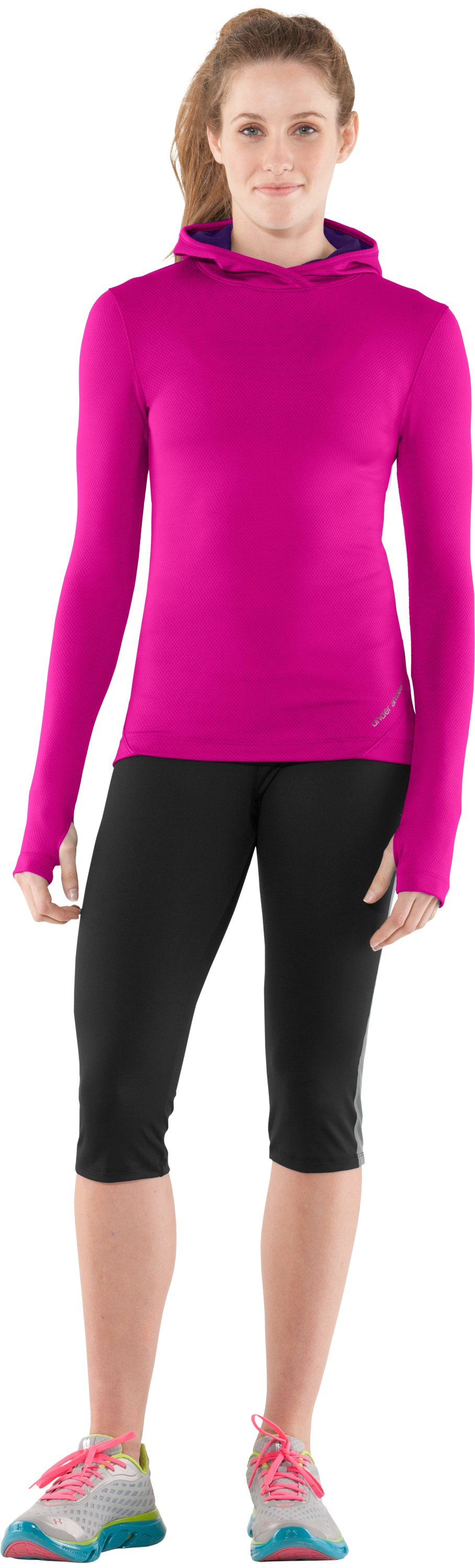 Women's ColdGear® Thermo Hoodie, Tropic Pink, zoomed image