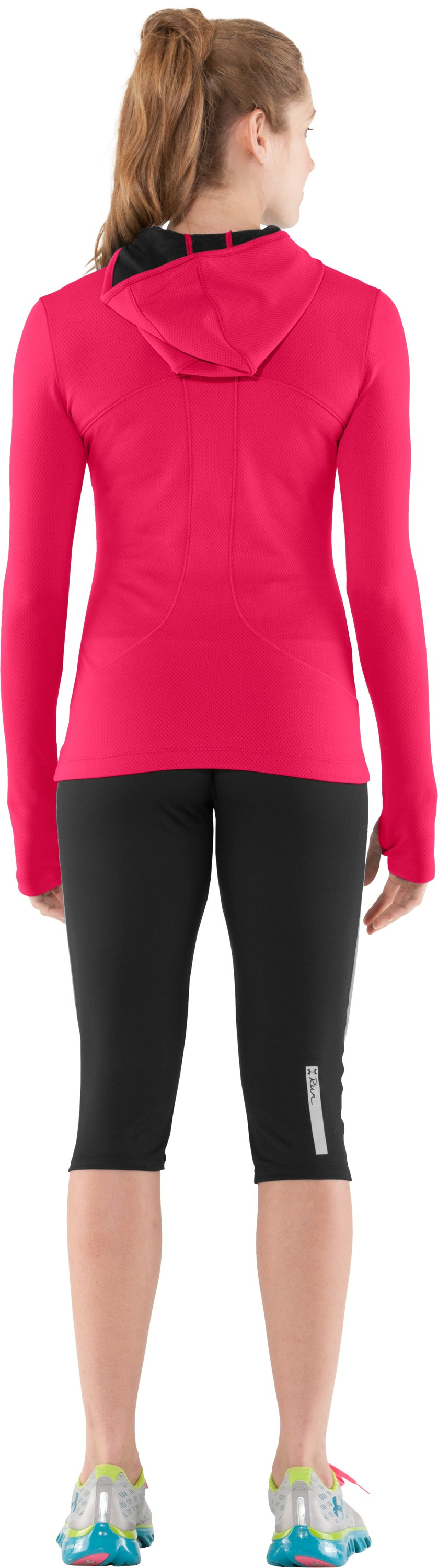 Women's ColdGear® Thermo Hoodie, Neo Pulse, Back