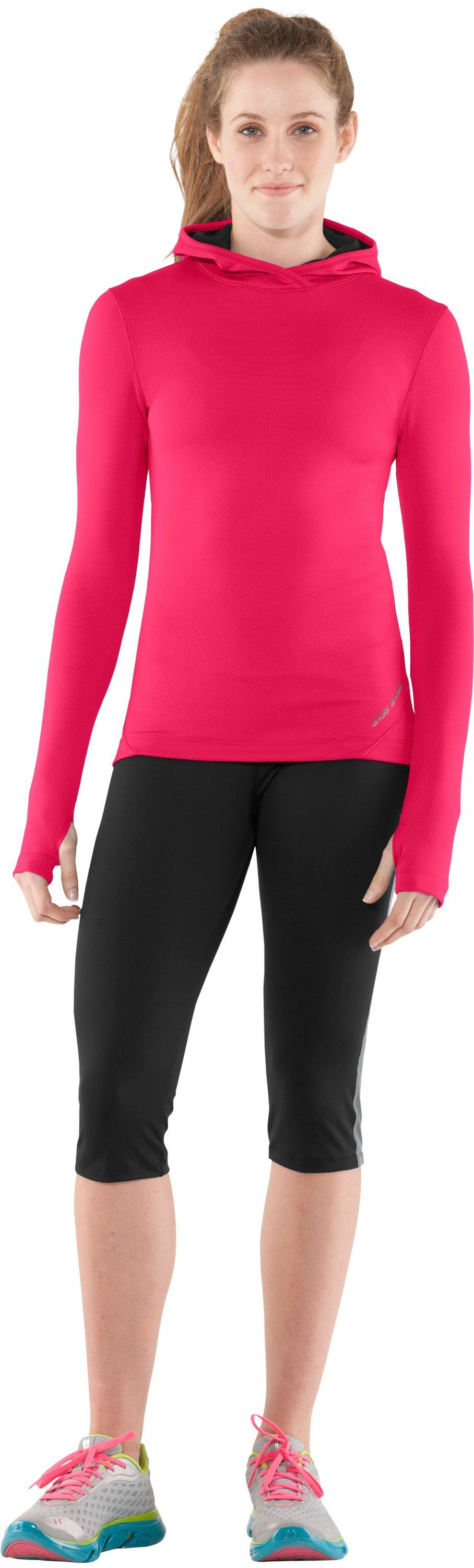 Women's ColdGear® Thermo Hoodie, Neo Pulse, Front