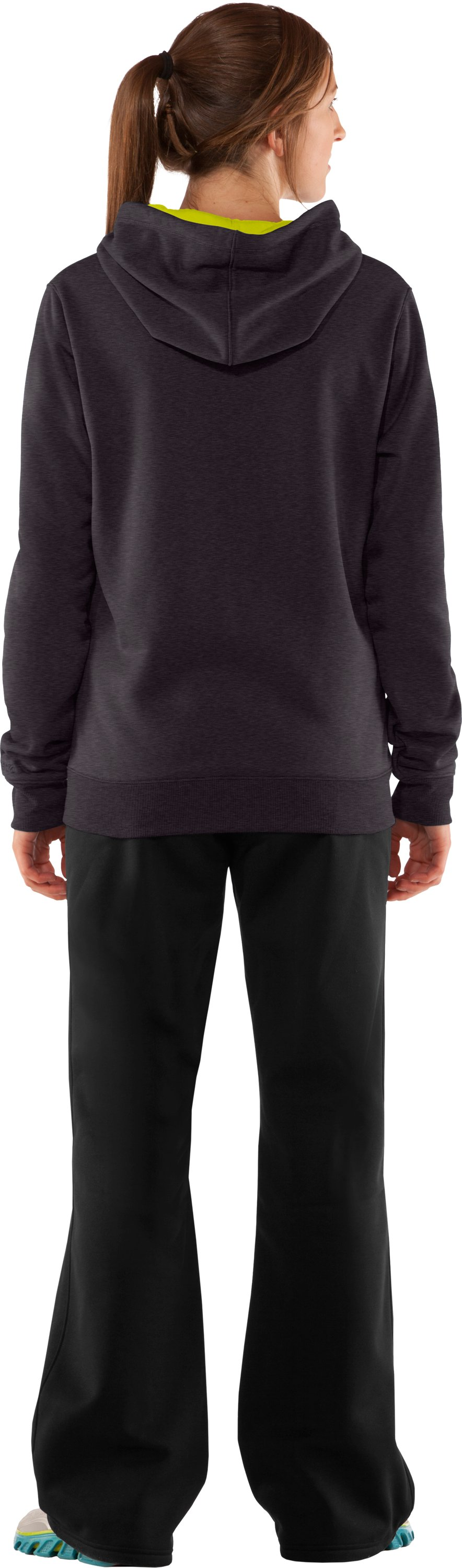 Women's Armour® Fleece Storm Big Logo Hoodie, Carbon Heather, Back