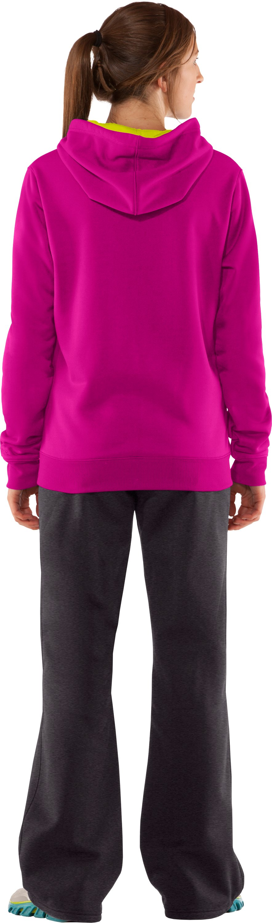 Women's Armour® Fleece Storm Big Logo Hoodie, Tropic Pink, Back