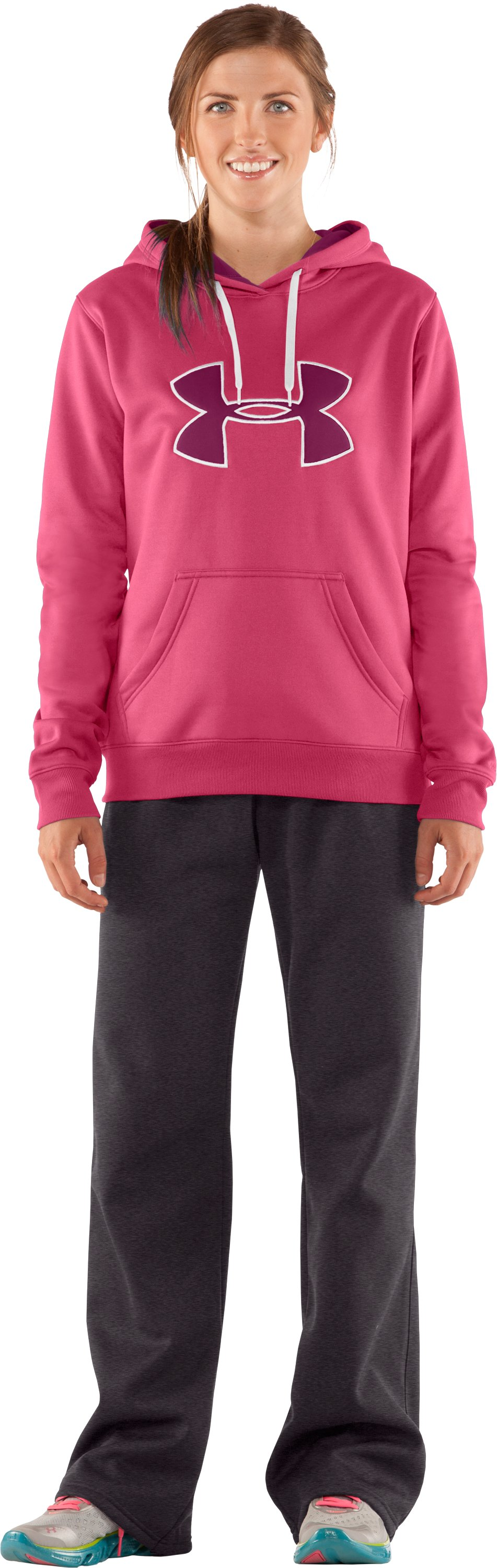 Women's Armour® Fleece Storm Big Logo Hoodie, Ultra, Front