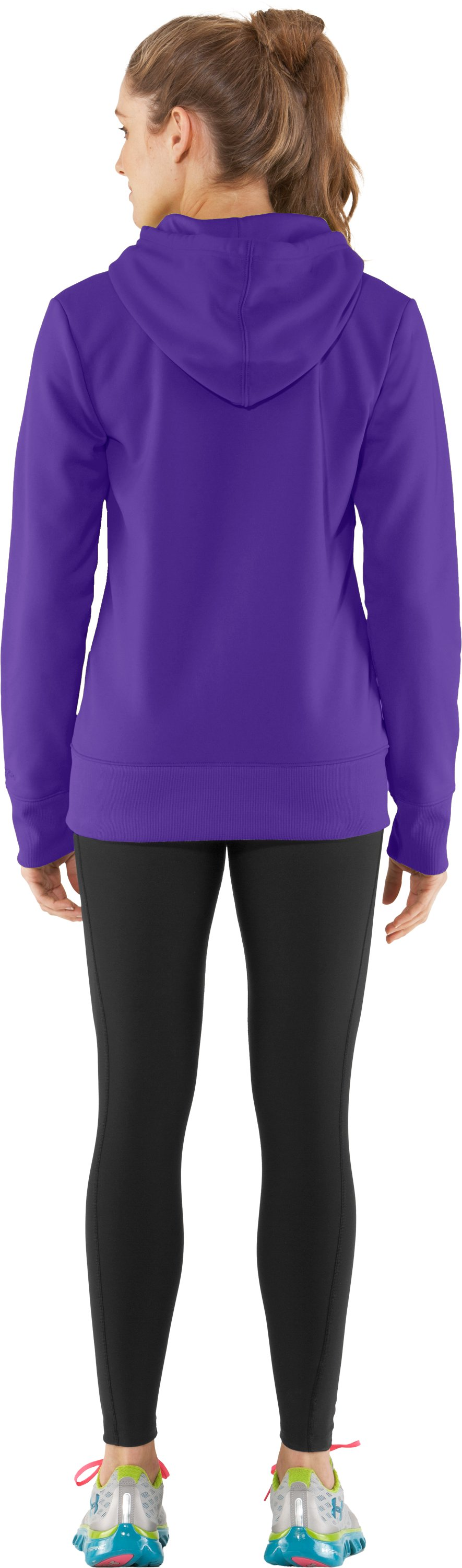 Women's Armour® Fleece Storm Full Zip Hoodie, Pluto, Back