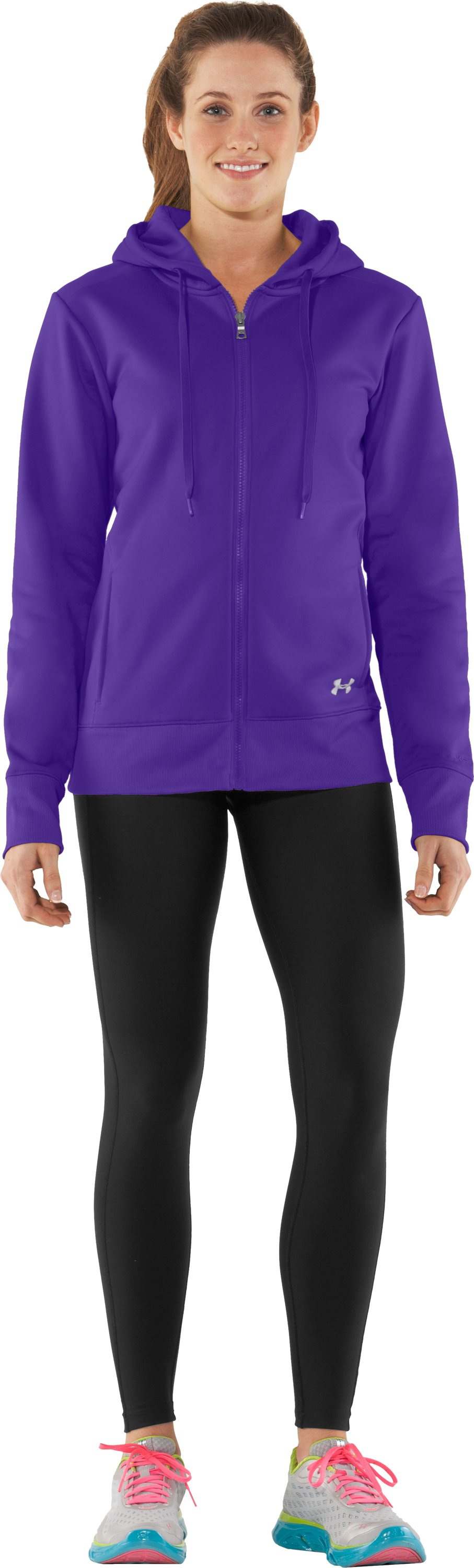 Women's Armour® Fleece Storm Full Zip Hoodie, Pluto