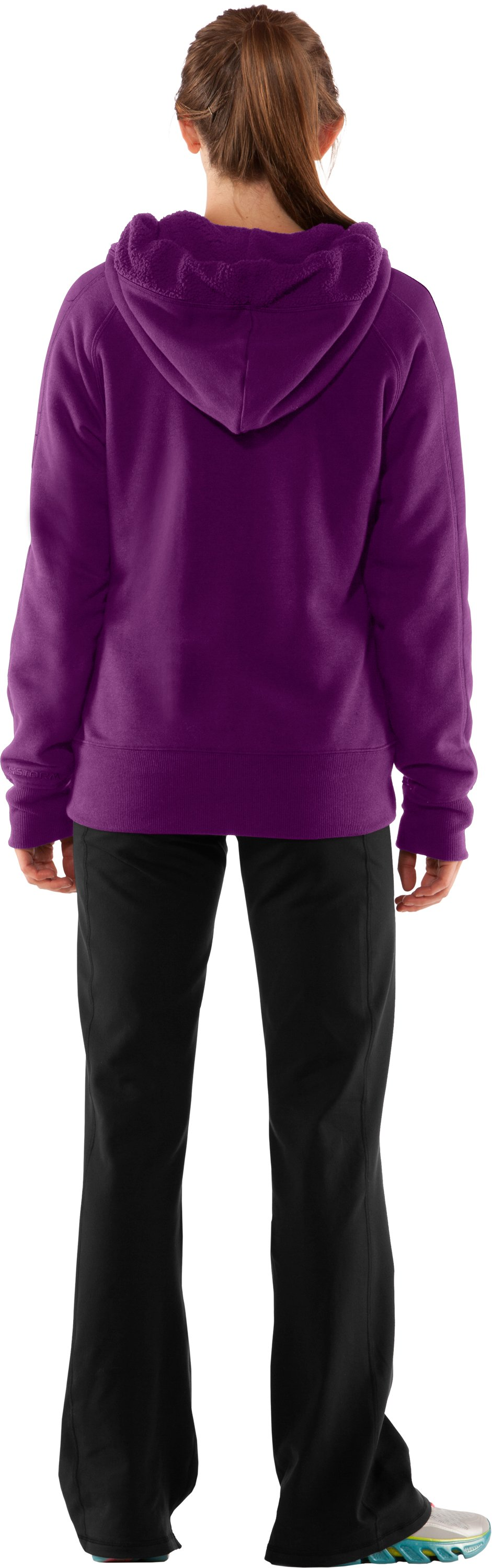 Women's Charged Cotton® Storm Sherpa Full Zip Hoodie, Cassis, Back