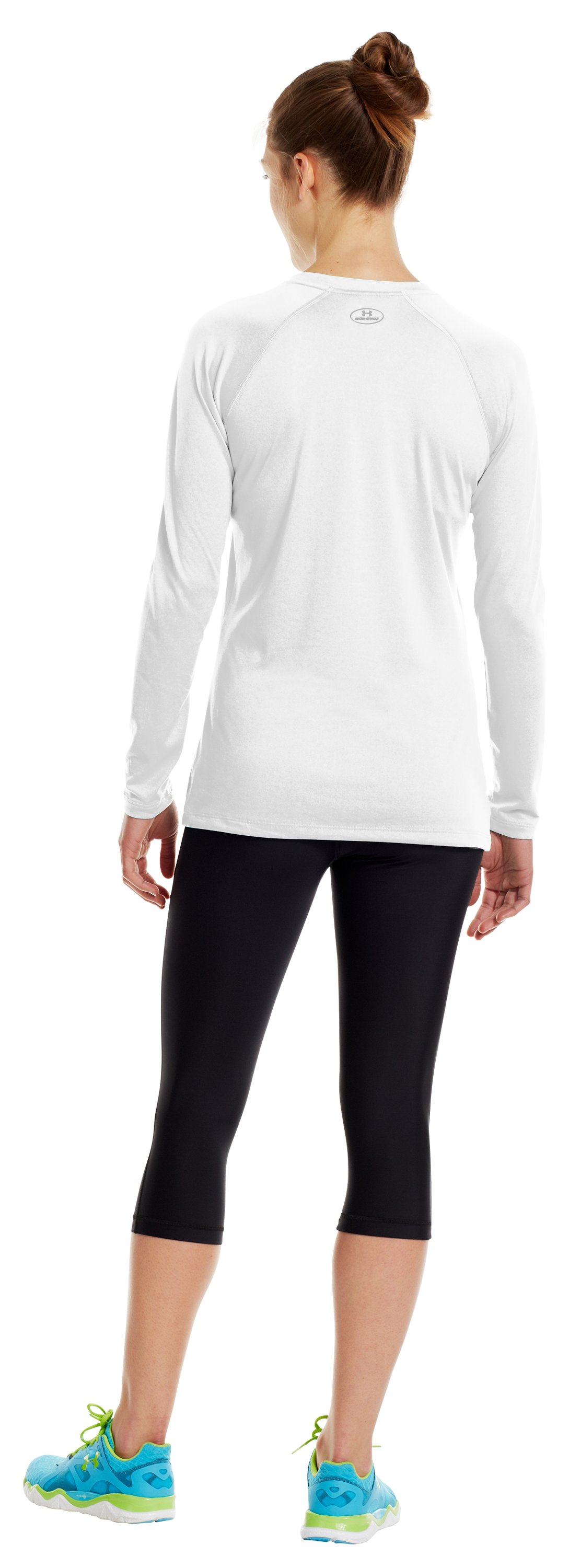 Women's UA Tech™ Long Sleeve, White, Back