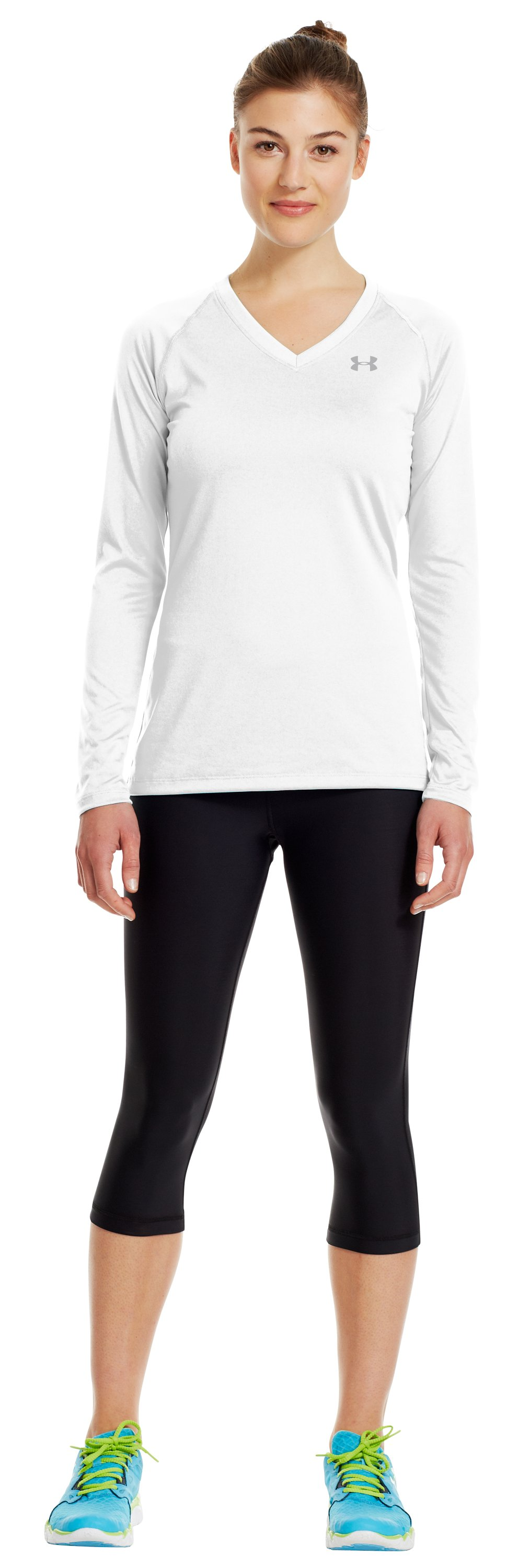 Women's UA Tech™ Long Sleeve, White, Front