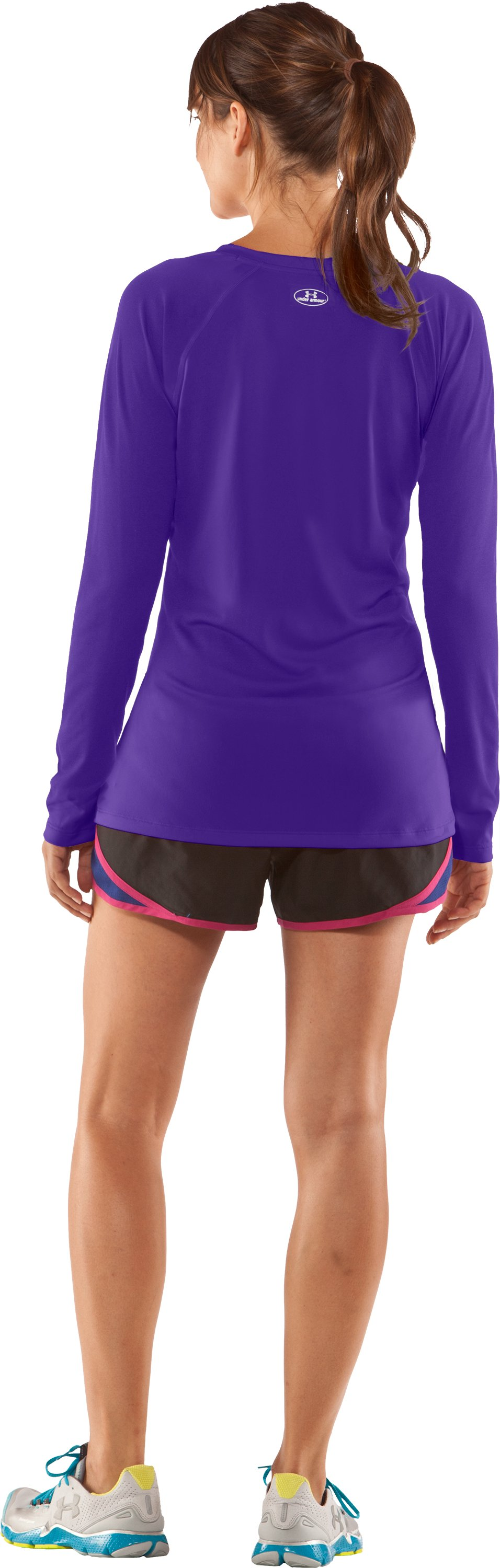 Women's UA Tech™ Long Sleeve, Pluto, Back