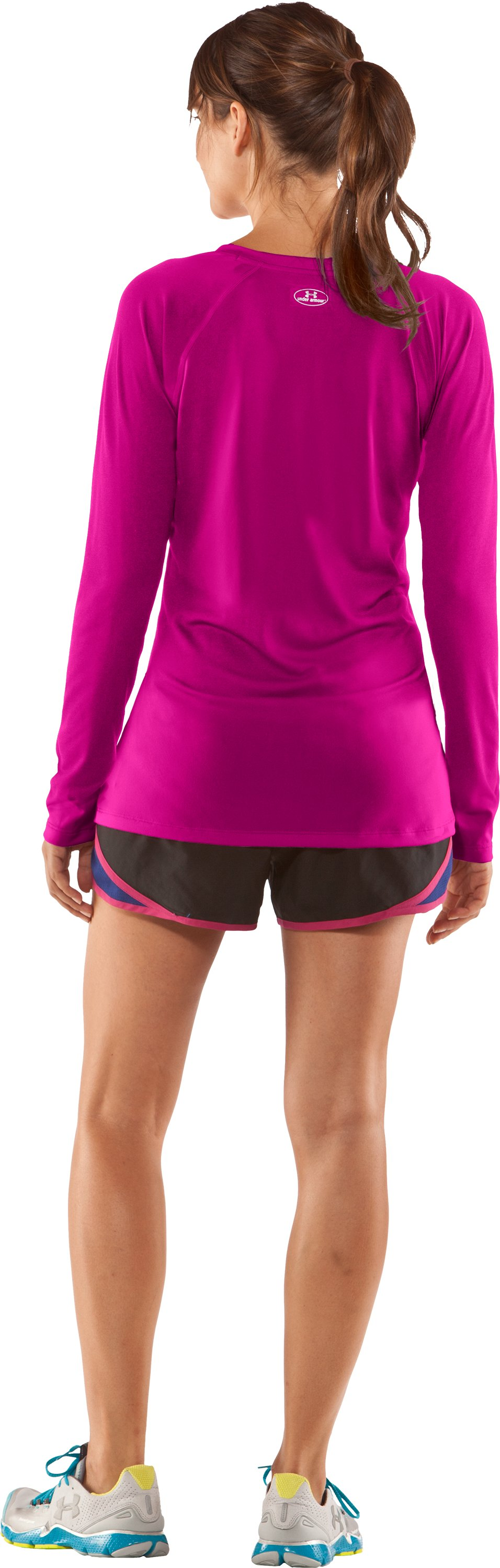 Women's UA Tech™ Long Sleeve, Tropic Pink, Back