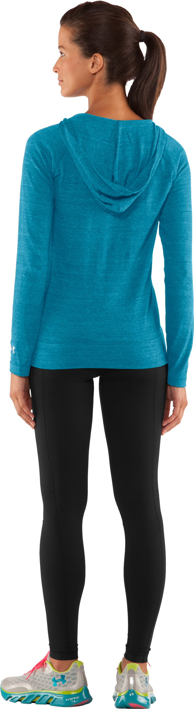 Women's UA Victory Hooded Long Sleeve, Break, Back