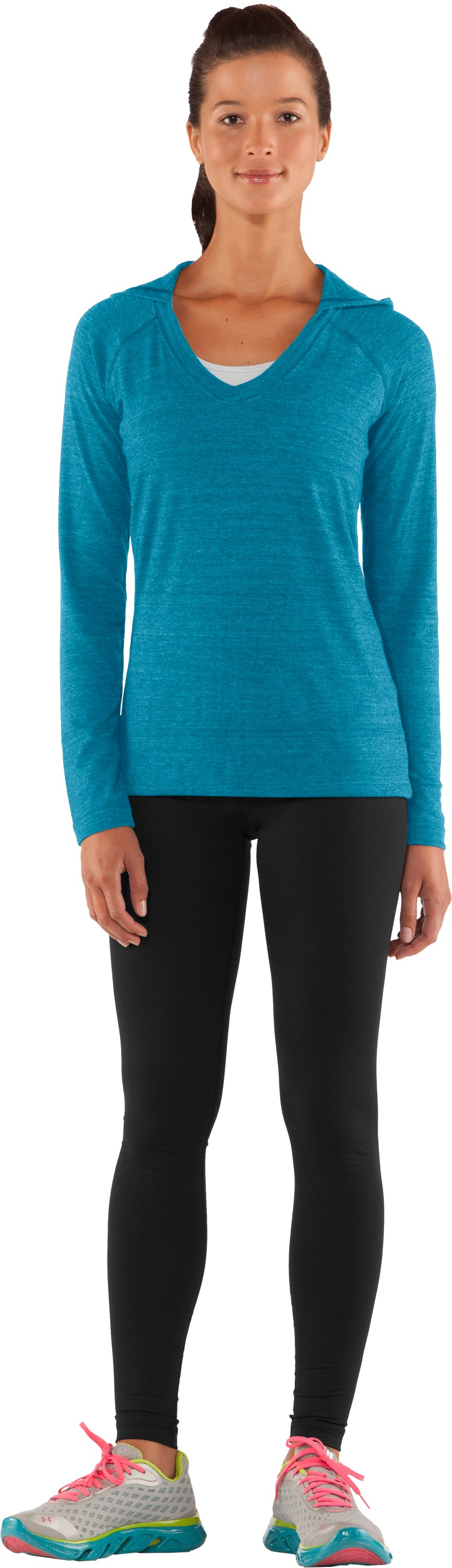 Women's UA Victory Hooded Long Sleeve, Break, Front