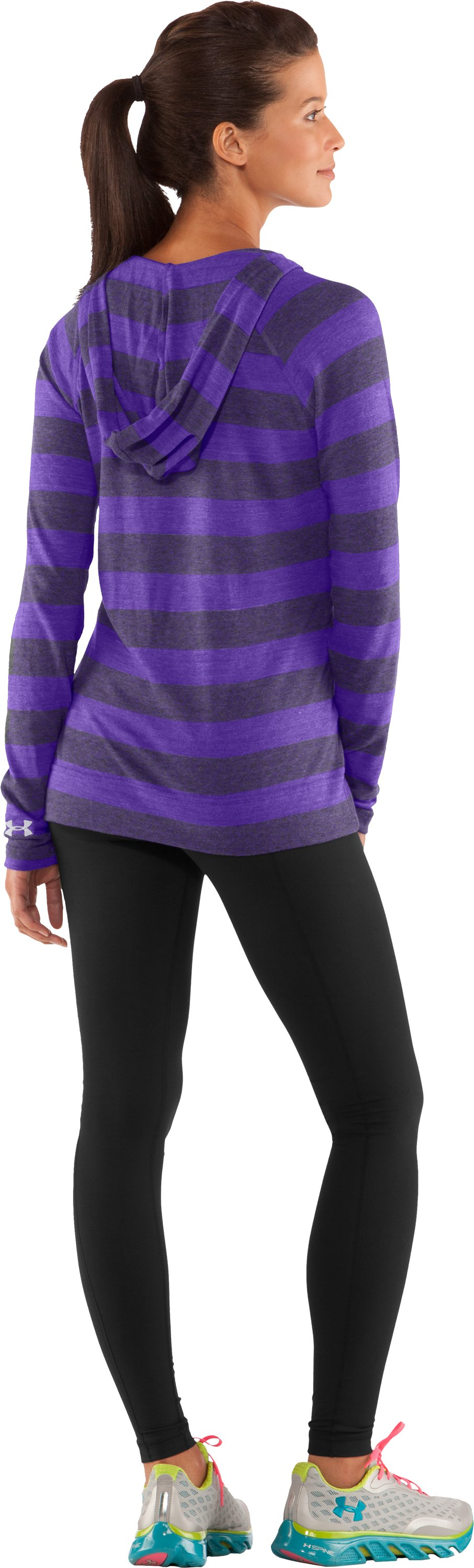 Women's UA Victory Hooded Long Sleeve, Pluto, Back