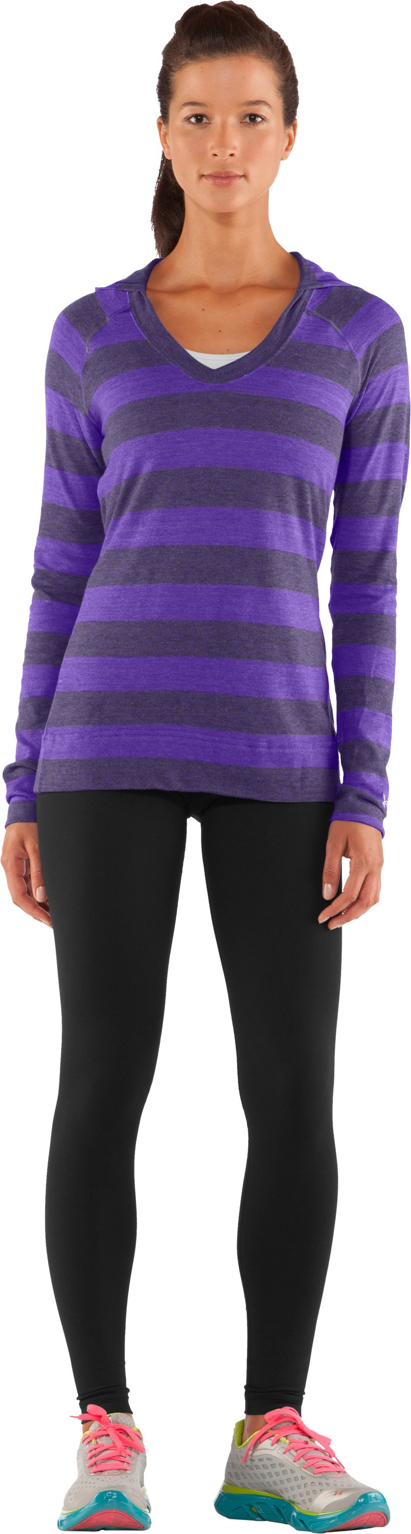 Women's UA Victory Hooded Long Sleeve, Pluto
