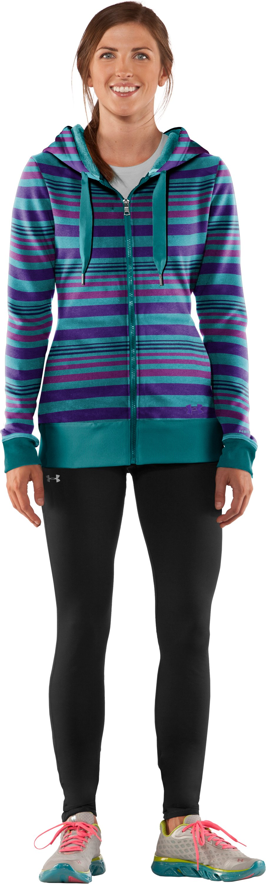 Women's Armour® Fleece Storm Printed Full Zip Hoodie, Flow