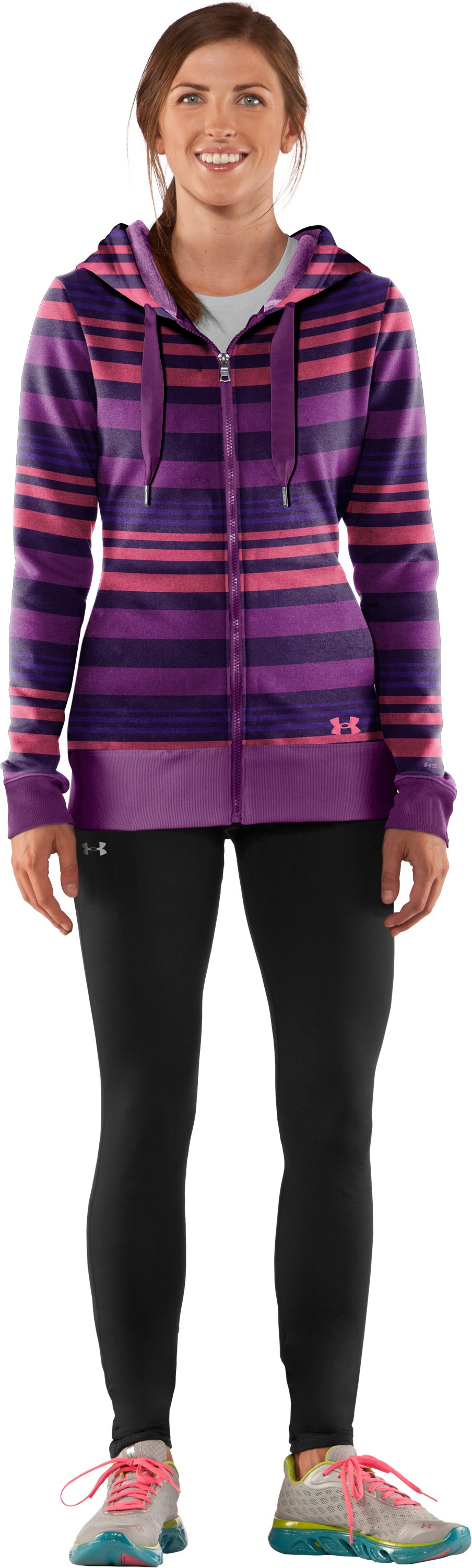Women's Armour® Fleece Storm Printed Full Zip Hoodie, Zone