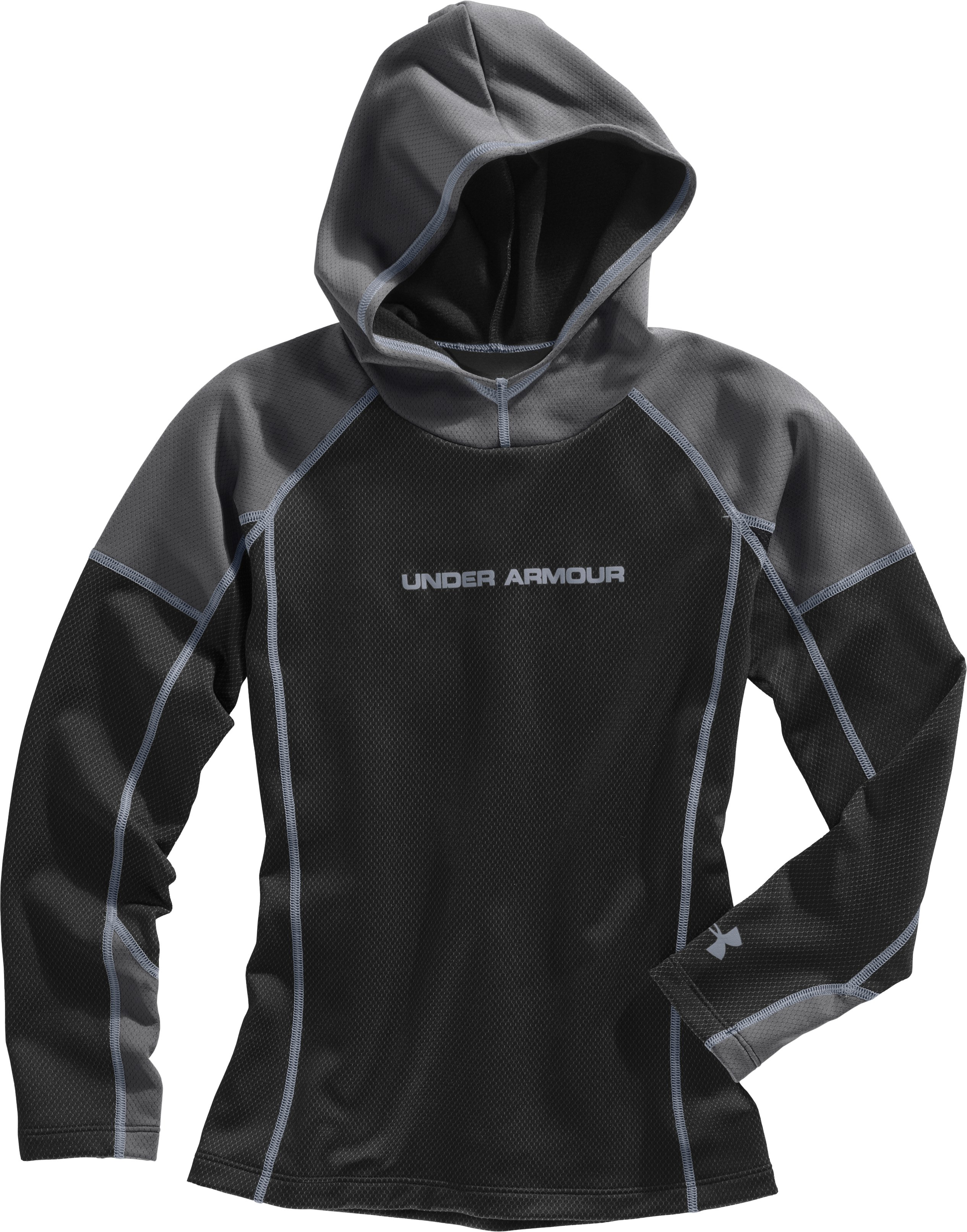 Boys' UA Radiator Hoodie, Black , Laydown