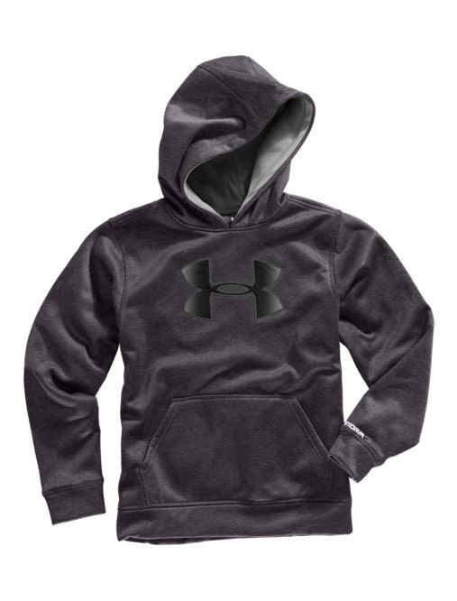 ffa796d2 Boys' UA Storm Armour Fleece® Big Logo Hoodie   Under Armour CA