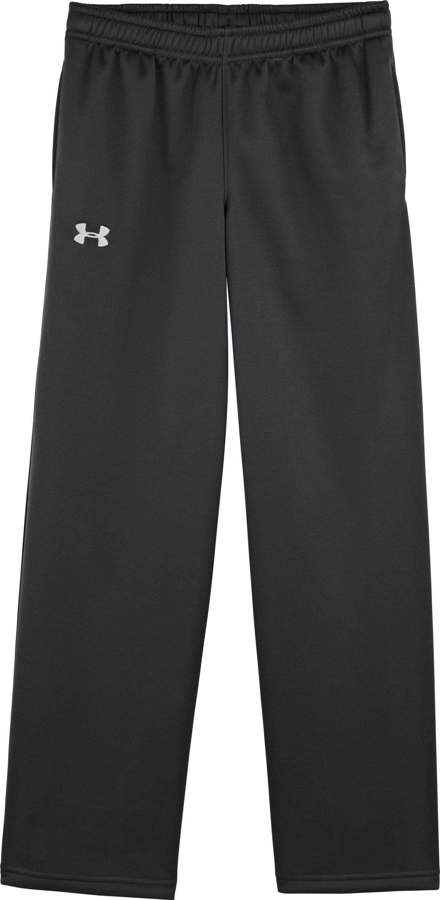 Boys' Armour® Fleece Storm Pants, Black , Laydown