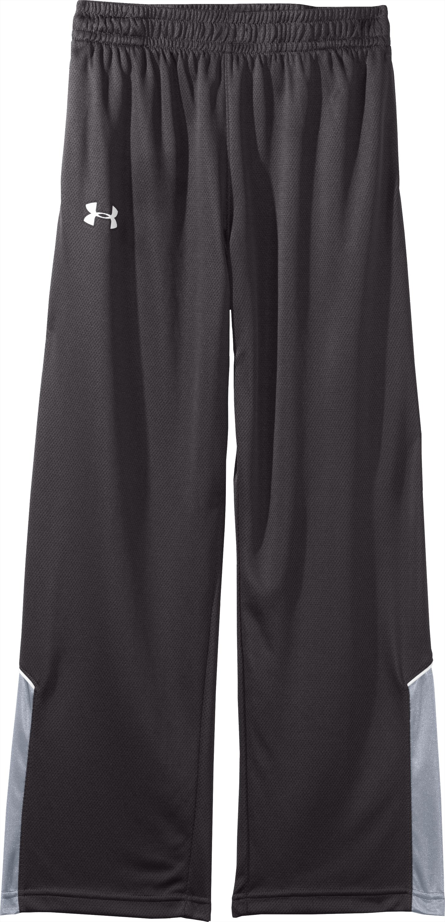Boys' UA Flex Knit Pants, Charcoal, Laydown