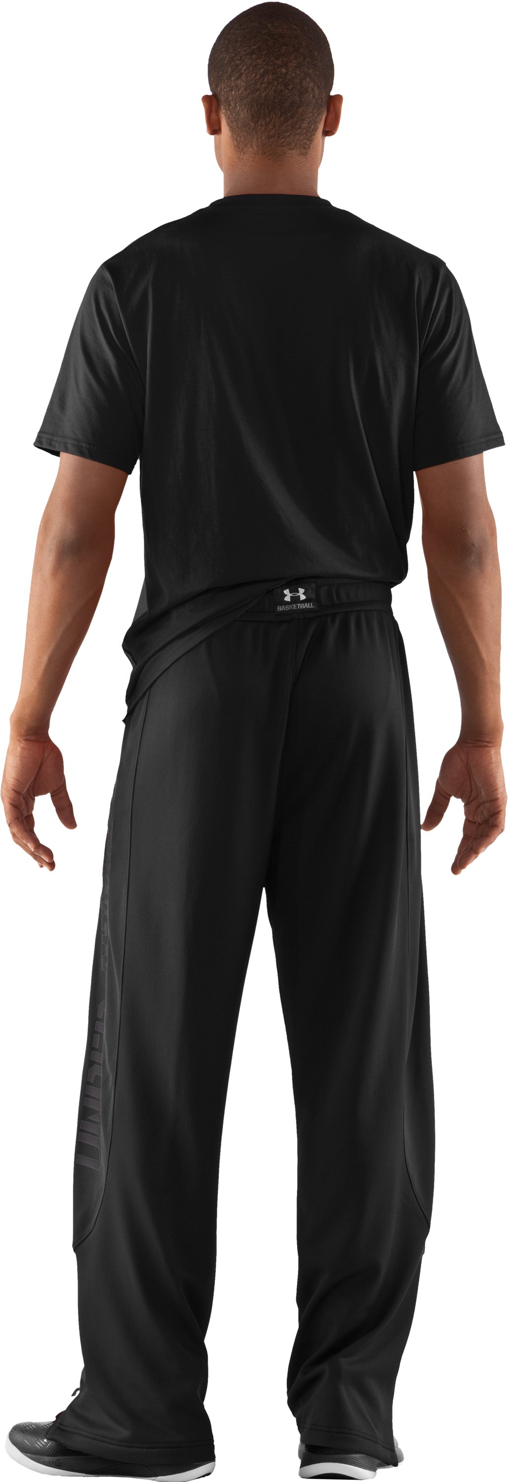 Men's UA Exceed Warm-Up Pants, Black , Back