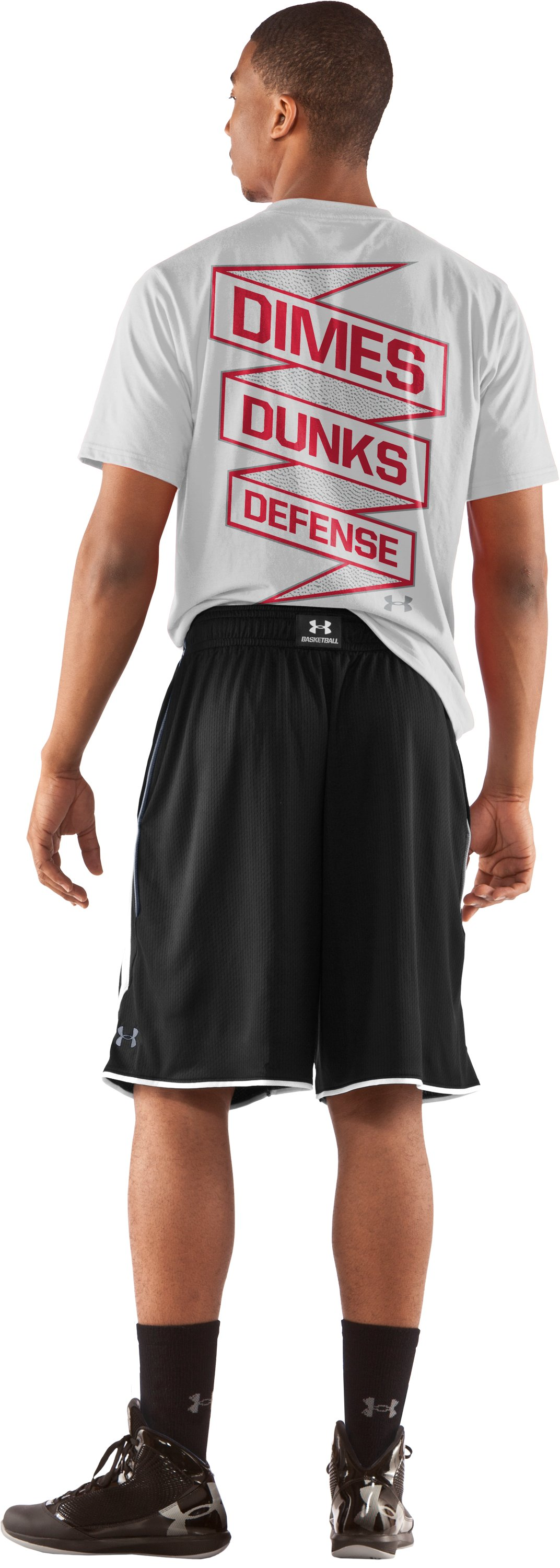 "Men's UA Finger Roll 10"" Basketball Shorts, Black , Back"