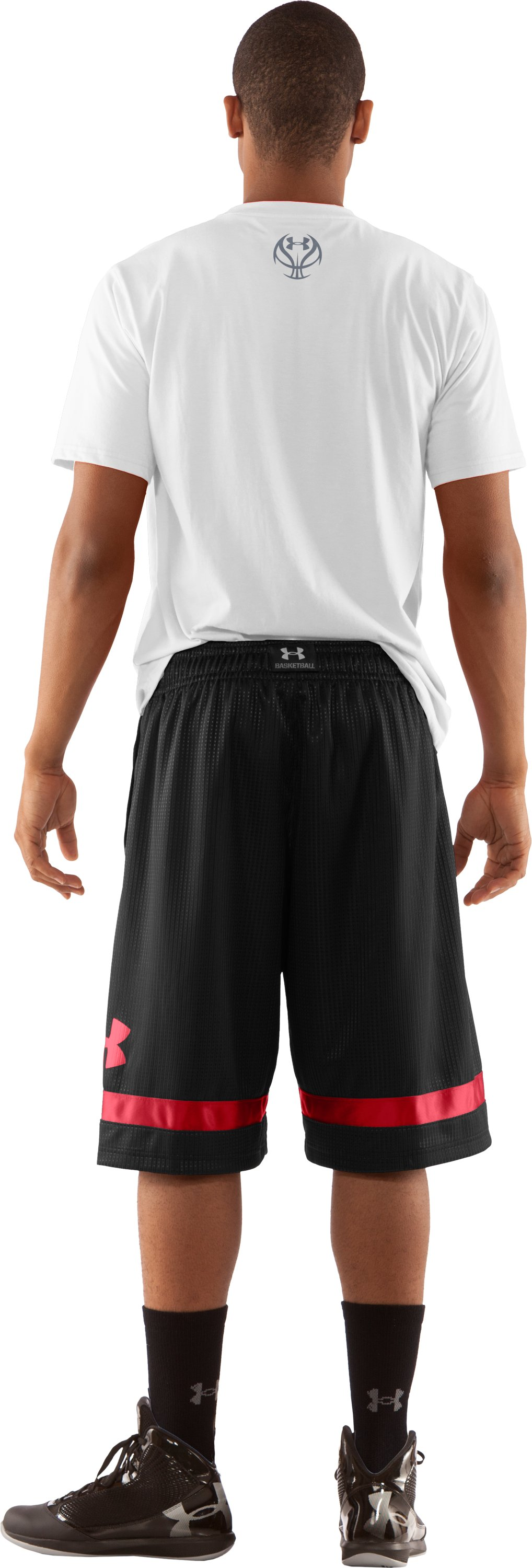 "Men's UA Regent 12"" Basketball Shorts, Black , Back"