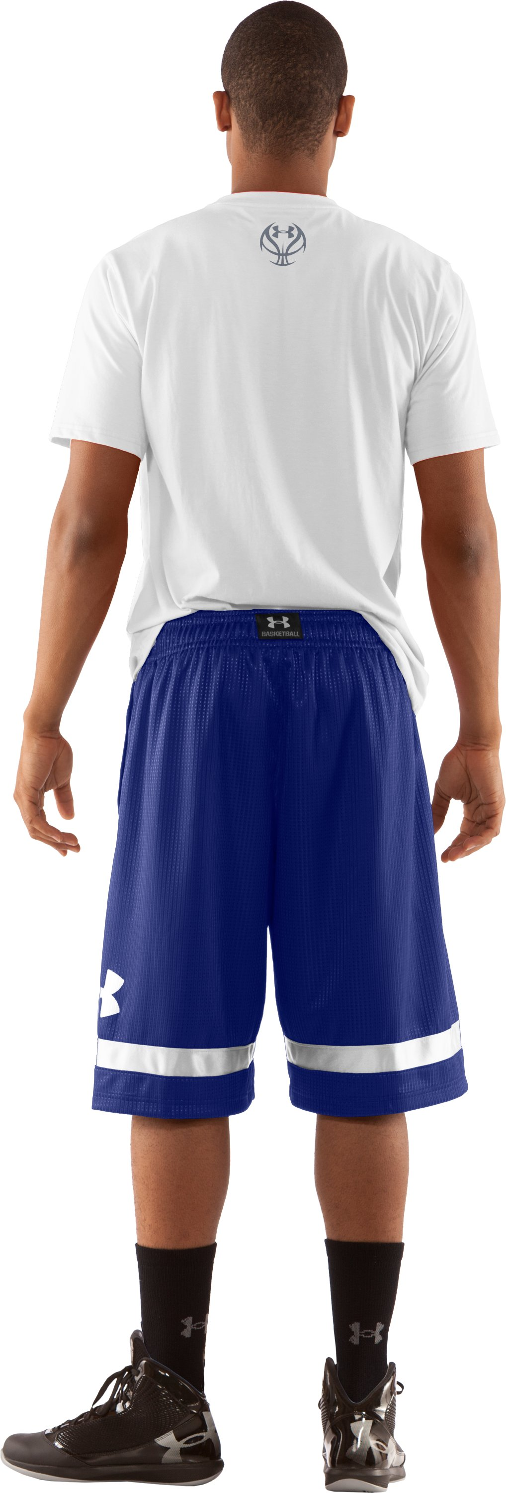 "Men's UA Regent 12"" Basketball Shorts, Royal, Back"