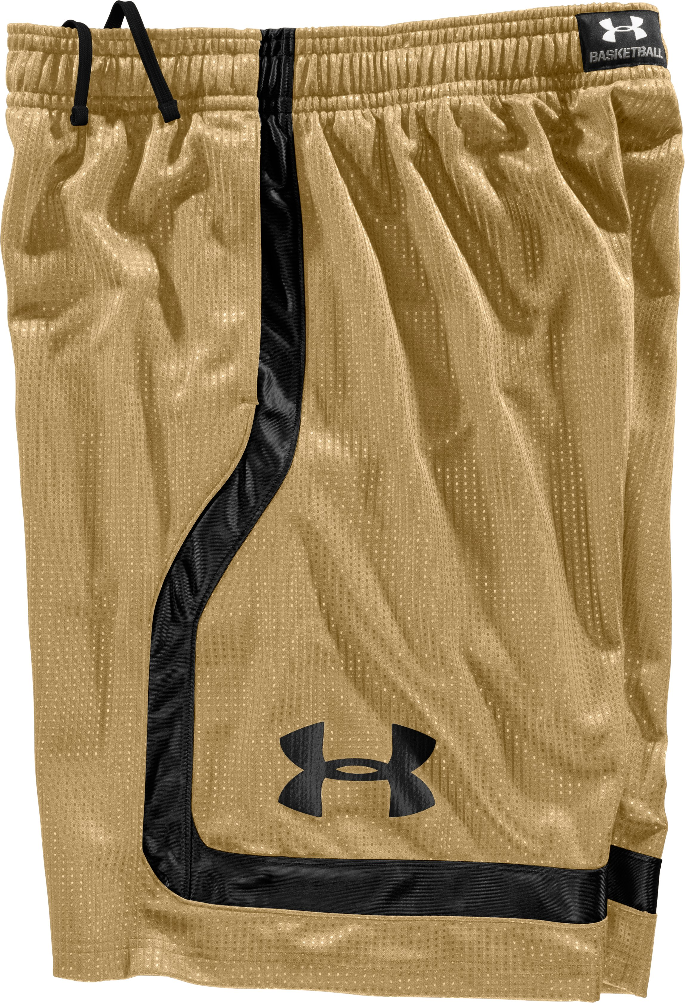 "Men's UA Regent 12"" Basketball Shorts, Vegas Gold, Laydown"