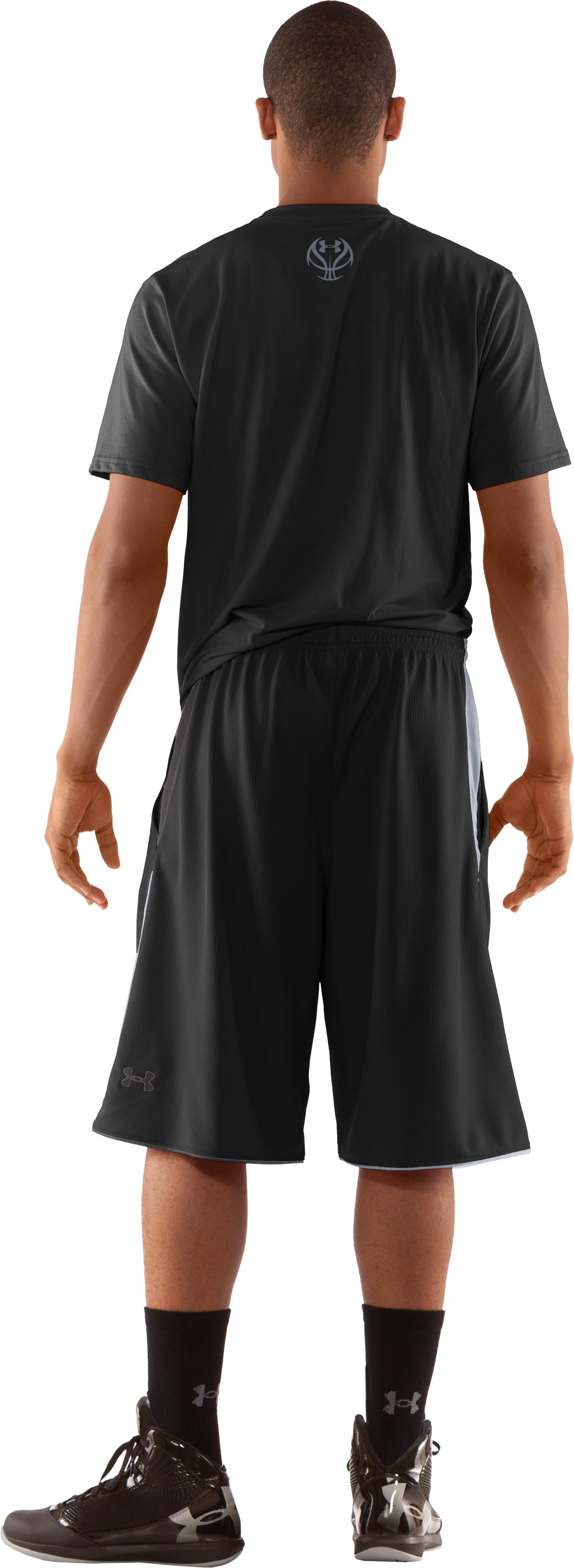 "Men's UA Bread Winner 12"" Basketball Shorts, Black , Back"