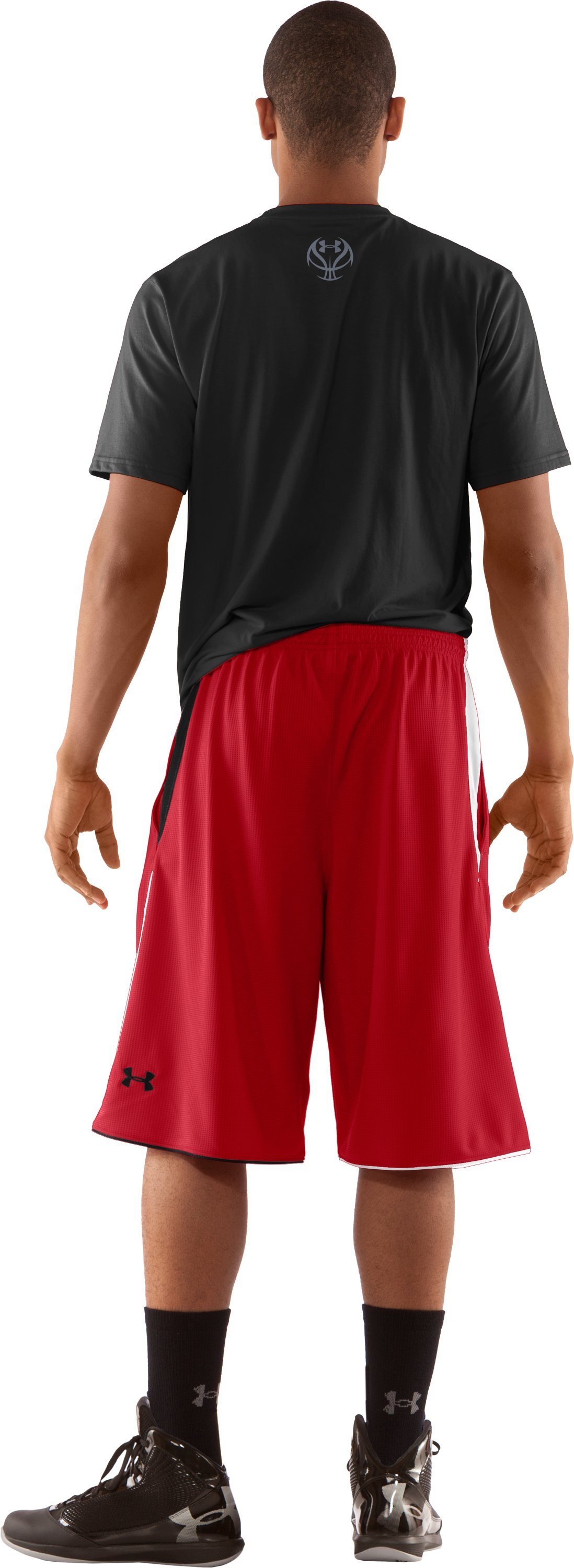 "Men's UA Bread Winner 12"" Basketball Shorts, Red, Back"
