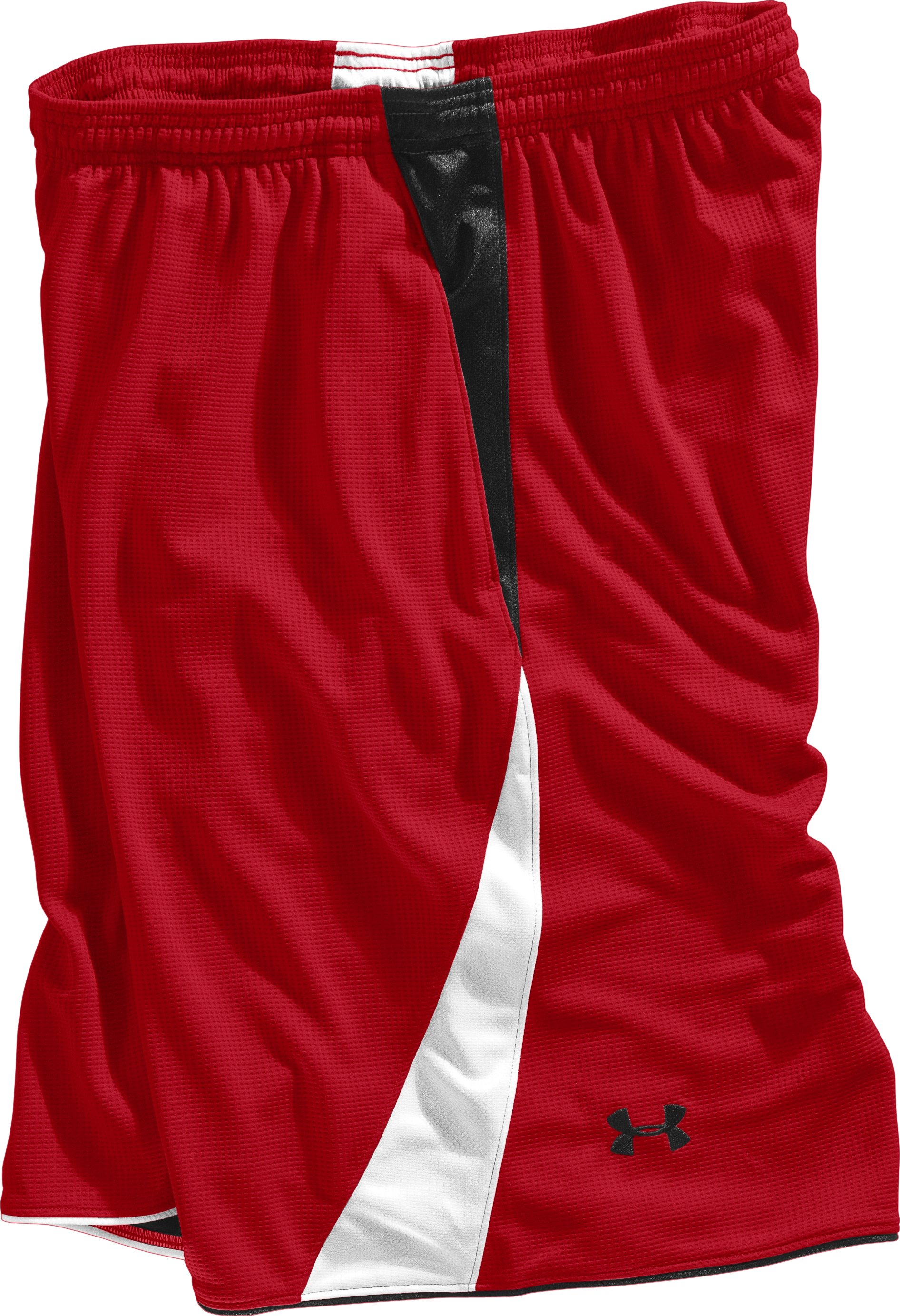 "Men's UA Bread Winner 12"" Basketball Shorts, Red, Laydown"