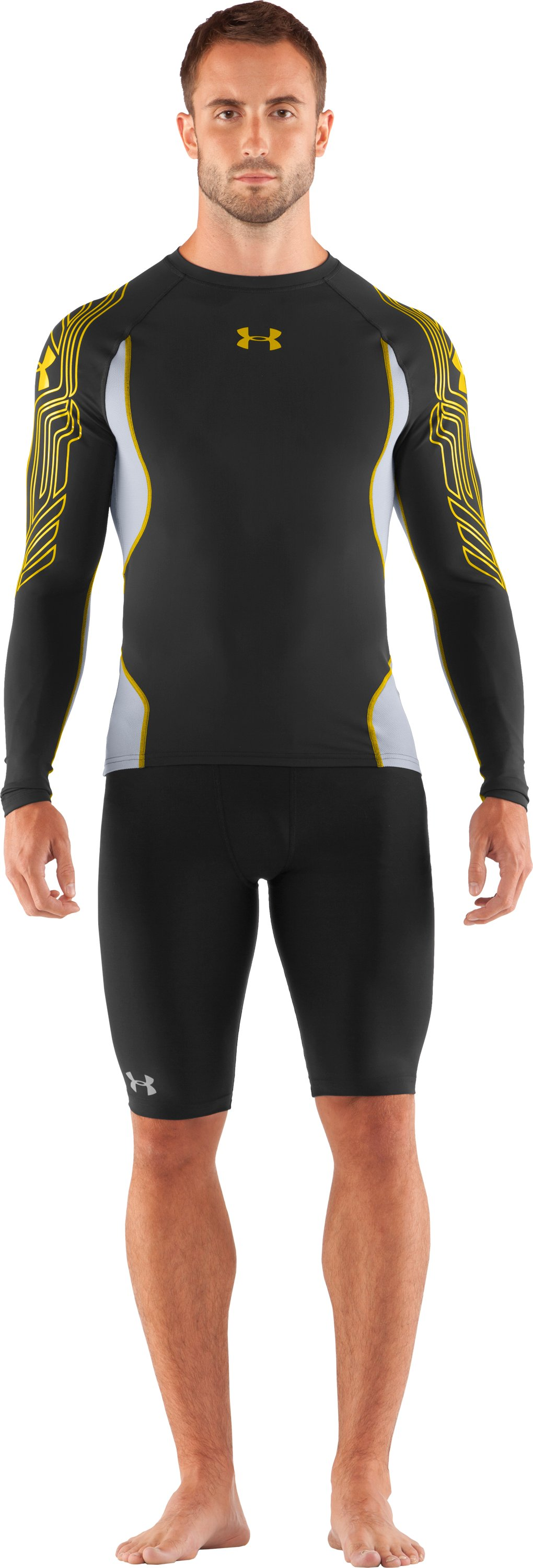 Men's UA Hockey Compression Long Sleeve, Black