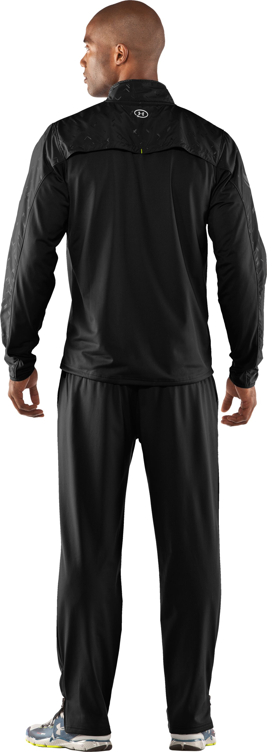 Men's UA Catalyst Run Retrack Jacket, Black , Back