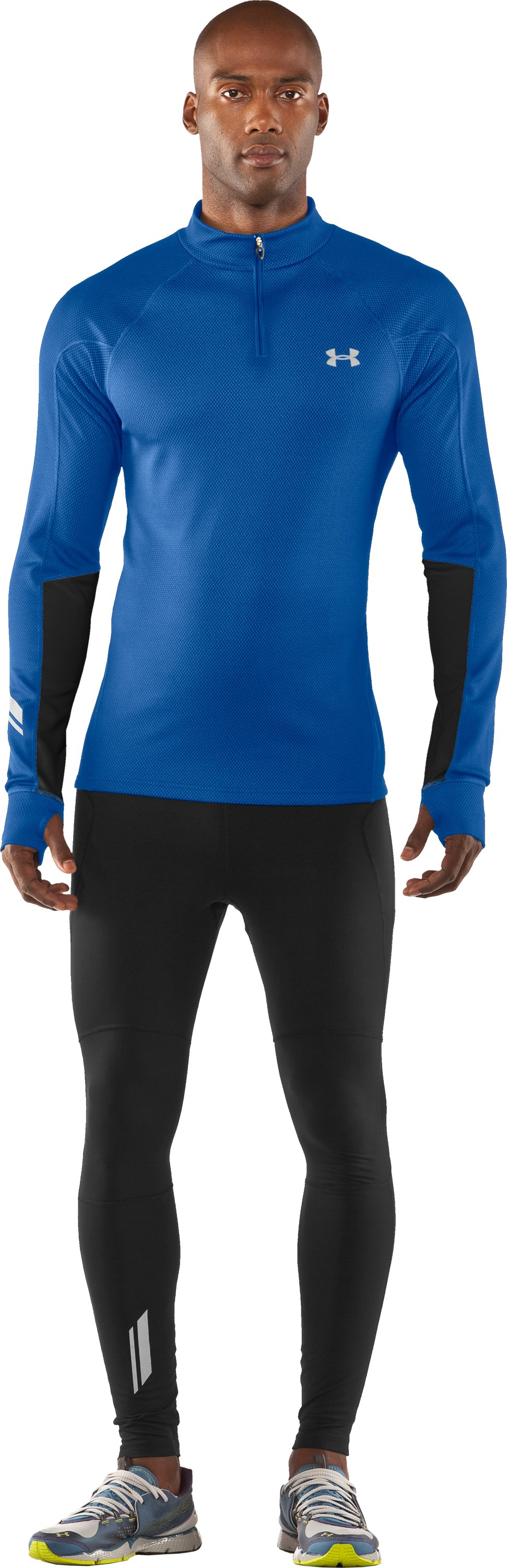Men's ColdGear® Thermo Run ½ Zip, Squadron, zoomed image