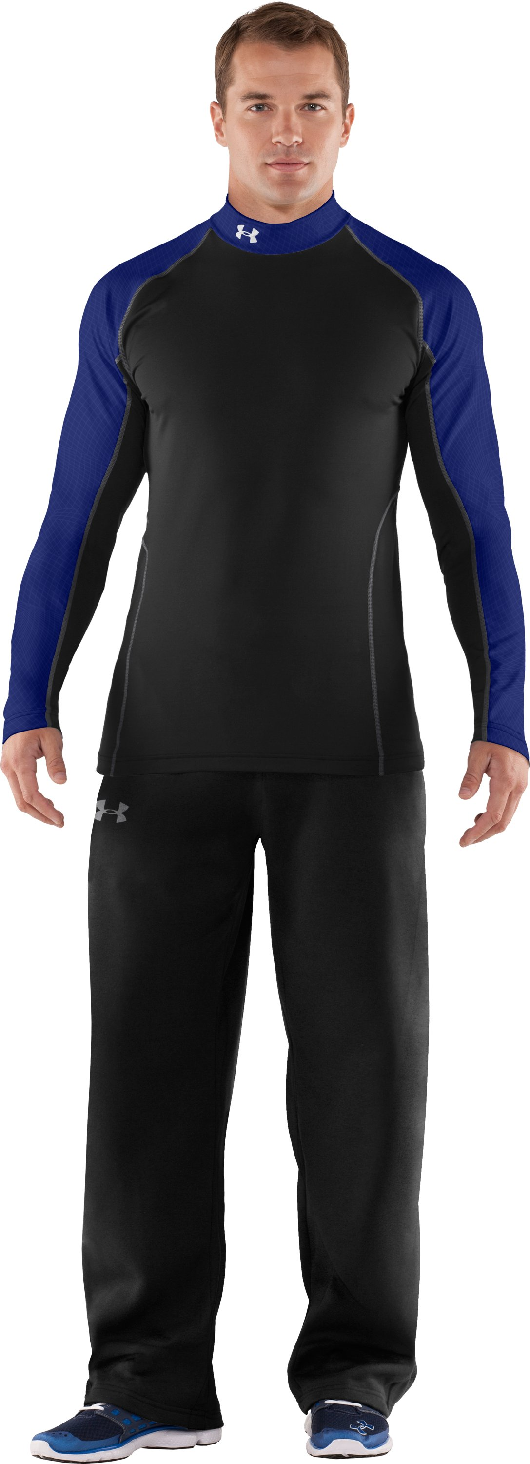 Men's UA Competition Fitted Baselayer Mock, Black