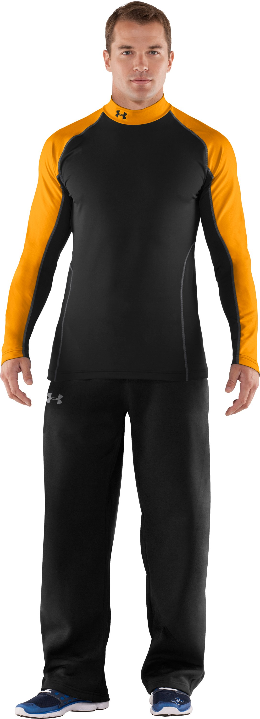 Men's UA Competition Fitted Baselayer Mock, Black , Front