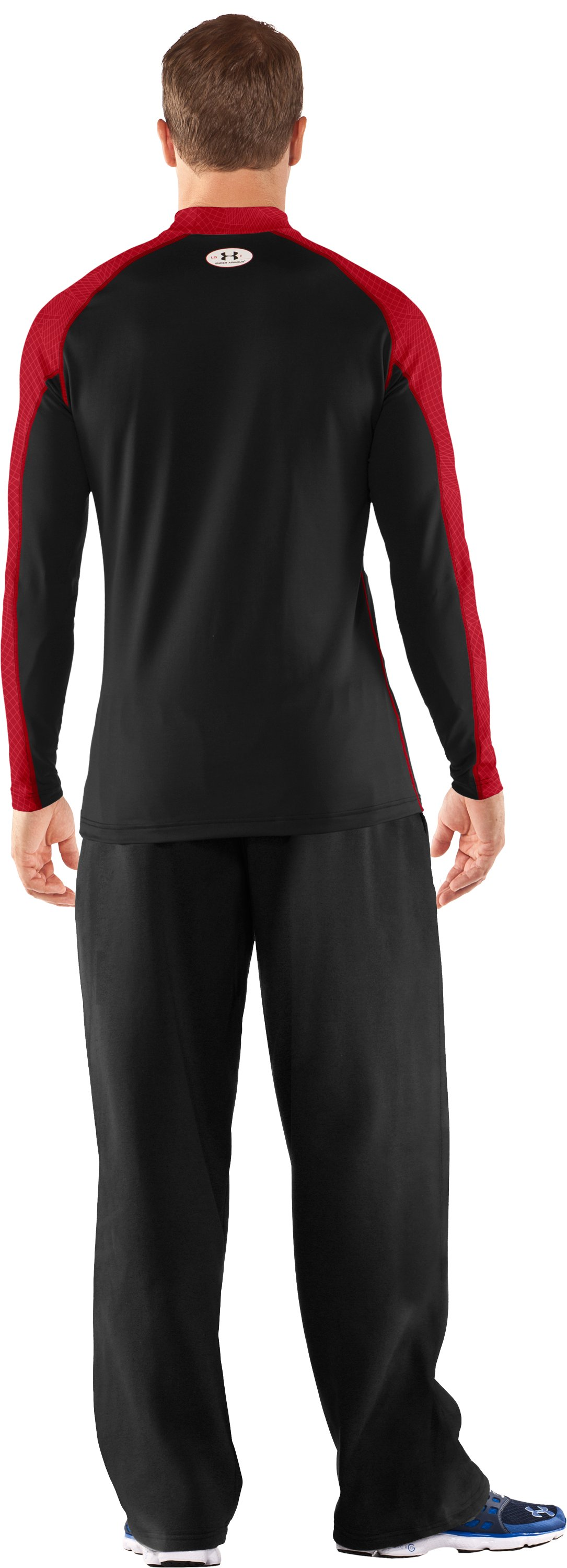 Men's UA Competition Fitted Baselayer Mock, Black , Back