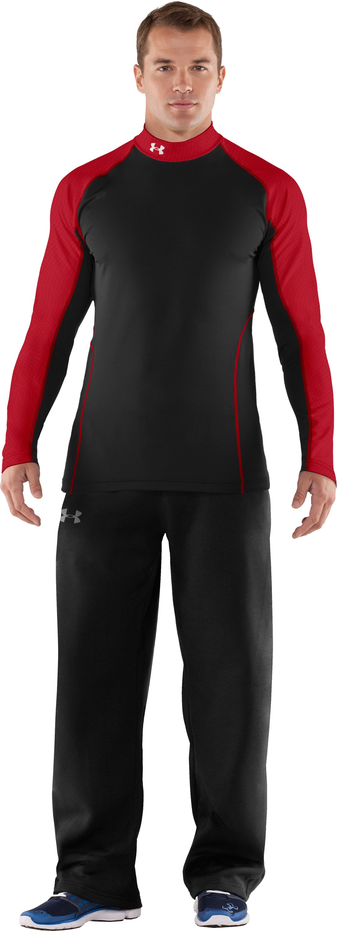 Men's UA Competition Fitted Baselayer Mock, Black , zoomed image