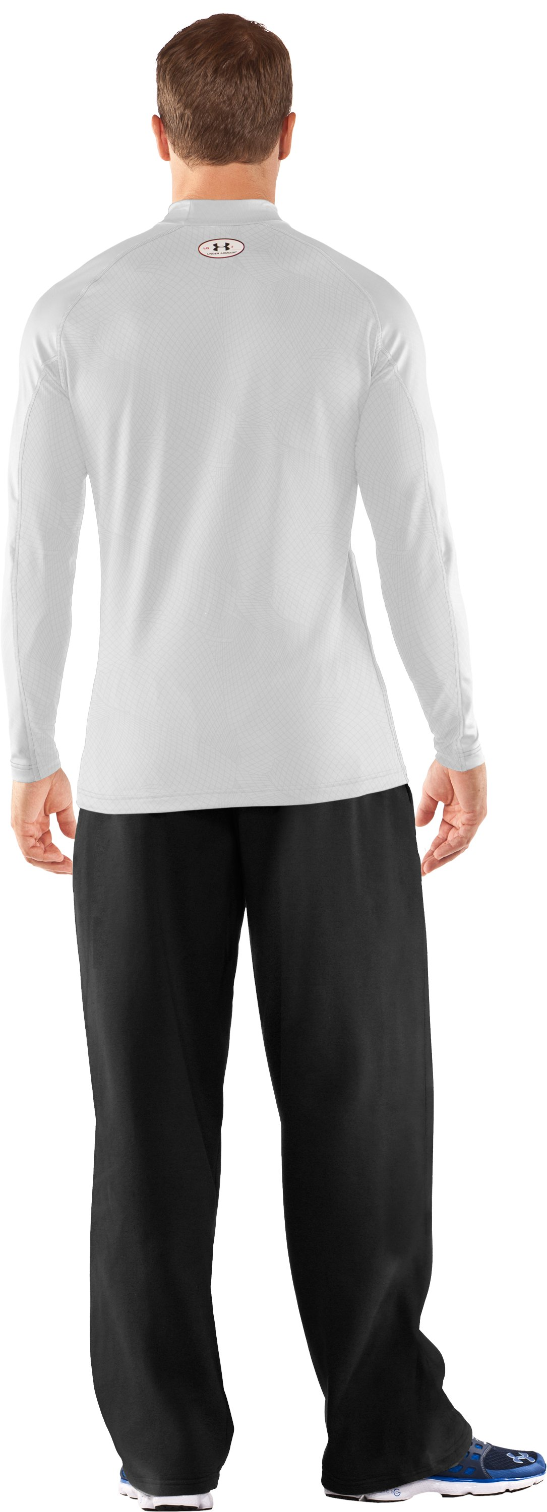 Men's UA Competition Fitted Baselayer Mock, White, Back