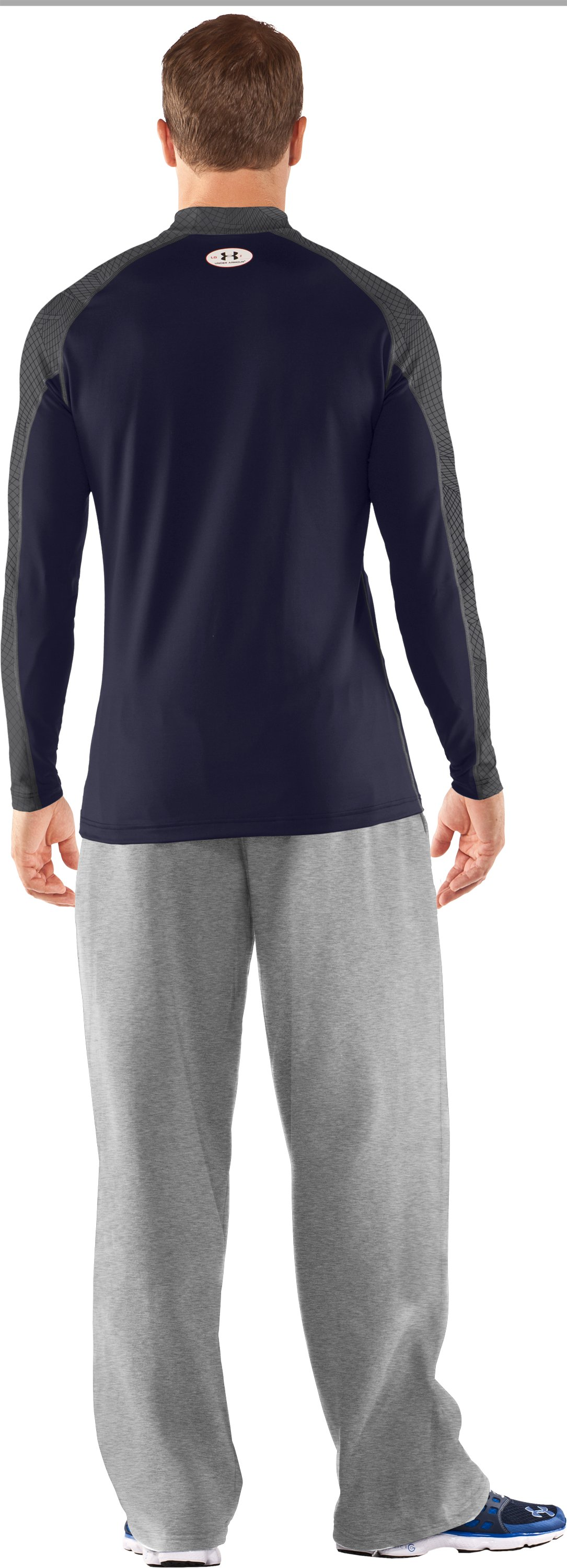 Men's UA Competition Fitted Baselayer Mock, Midnight Navy, Back